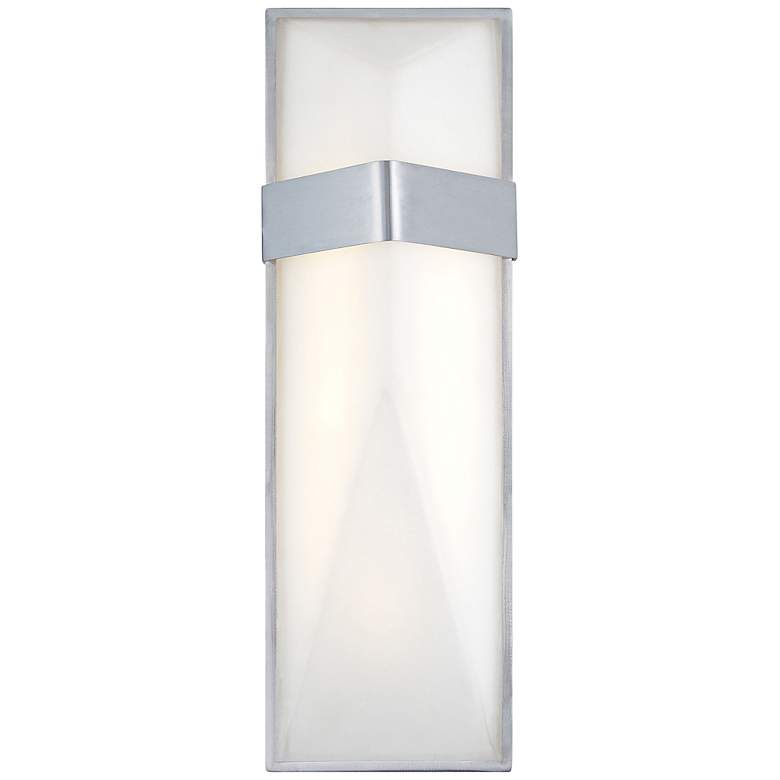 """George Kovacs Wedge 15""""H LED Silver Outdoor Wall Light"""