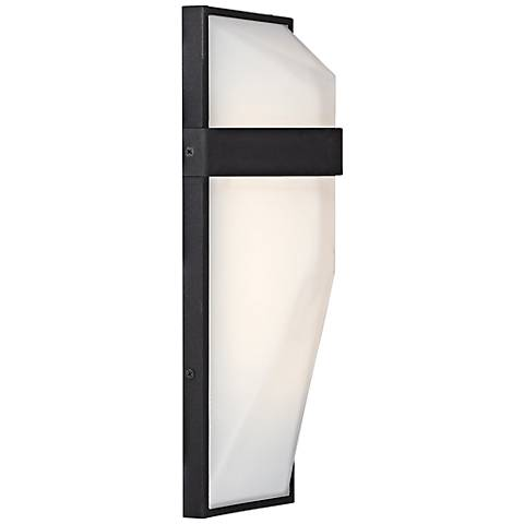"George Kovacs Wedge 15""H Black LED Outdoor Wall Light"