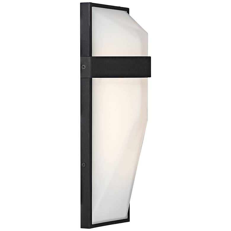 """George Kovacs Wedge 15""""H Black LED Outdoor Wall Light"""