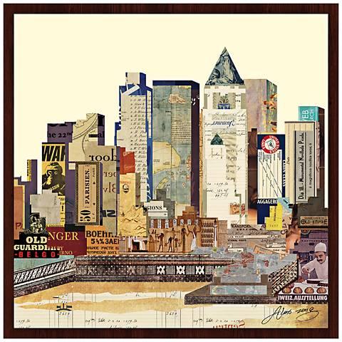 "New York City Skyline 26"" Wide Framed Wall Art"
