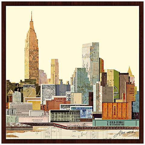 "New York City Skyline III 26"" Wide Framed Wall Art"
