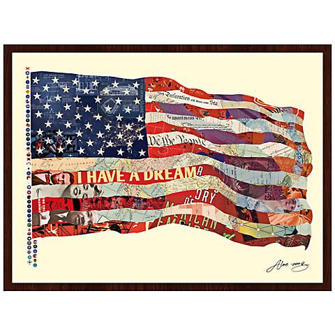 "Old Glory 40"" Wide Framed Wall Art"