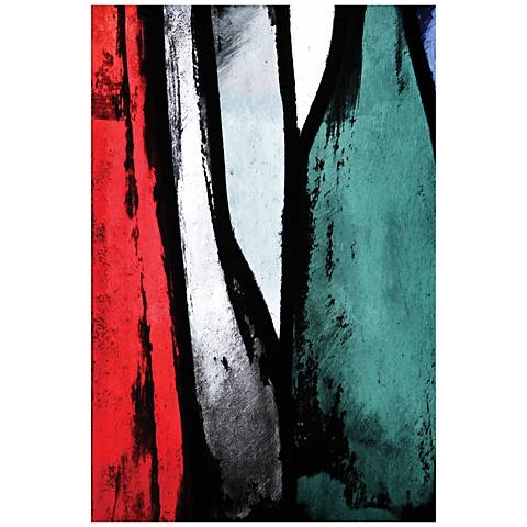 "Abstract Lines 48"" Wide Glass Wall Art"