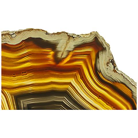 """Brown Agate 48"""" Wide Glass Wall Art"""