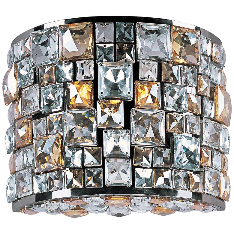 """Maxim Fifth Avenue 9""""H Jeweled Luster Bronze Wall Sconce"""