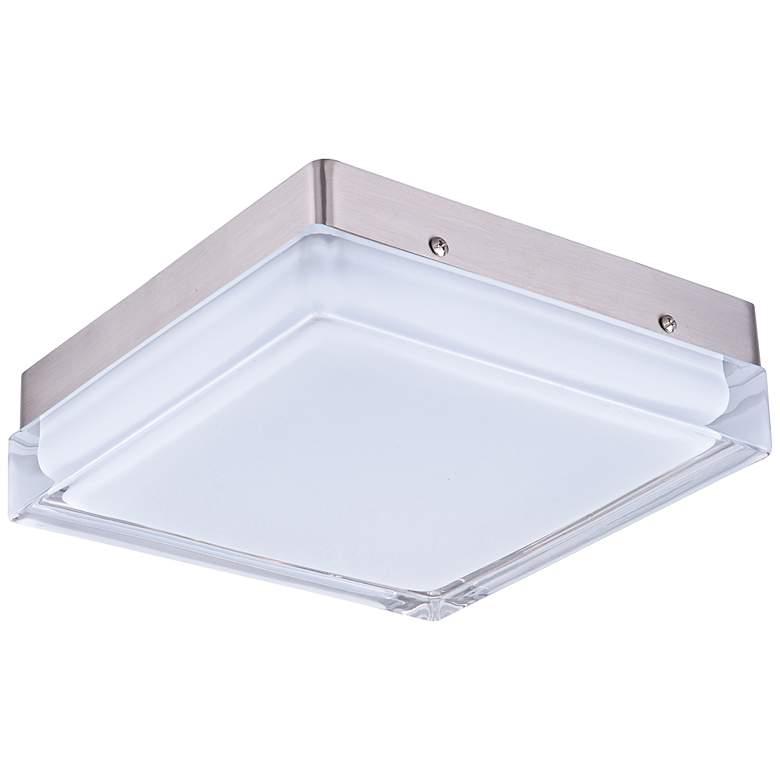"Maxim Illuminaire 9 1/4""W Satin Nickel LED Ceiling Light"