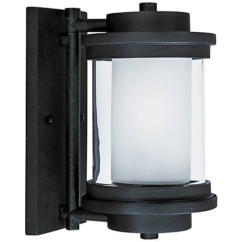 "Maxim Lighthouse 10 1/4""H Anthracite Outdoor Wall Light"