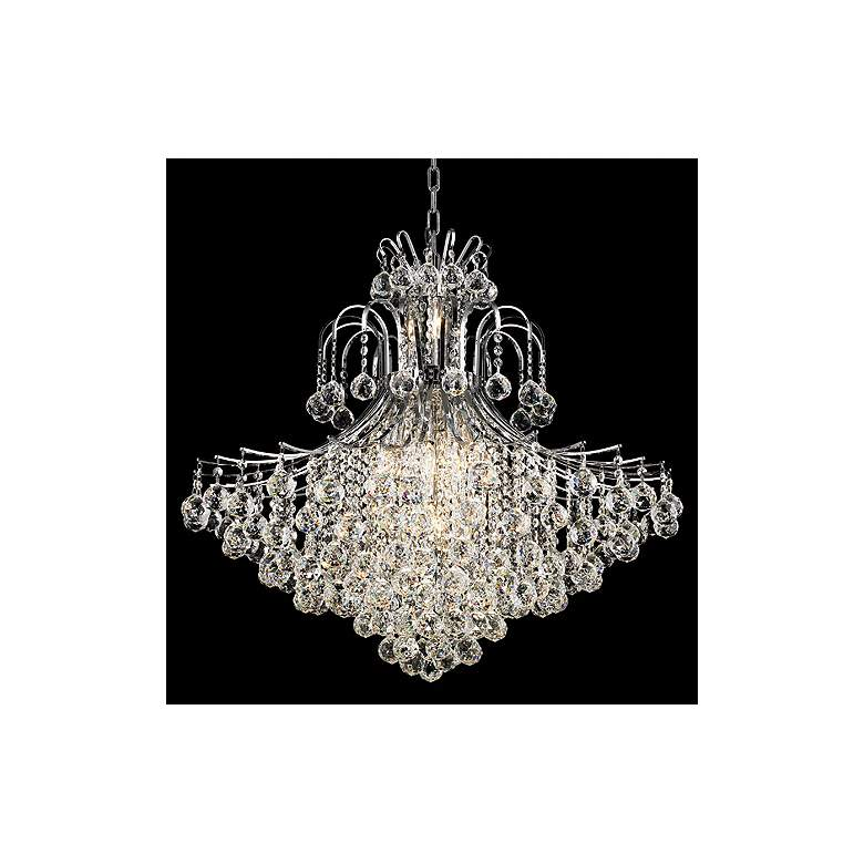 "Toureg 31"" Wide Chrome and Crystal 15-Light Chandelier"