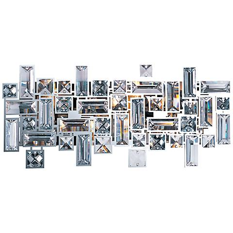 "Maxim Paradigm 17 3/4"" Wide Abstract Crystal Bath Light"