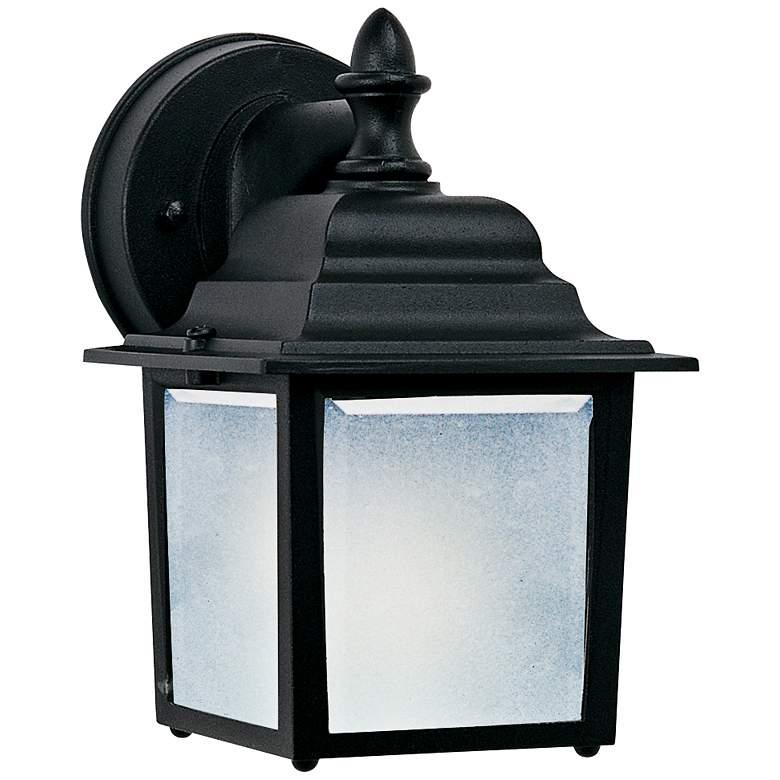 "Maxim Side Door 8 1/2"" High Black Outdoor Wall Light"