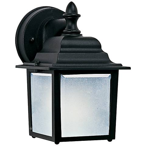 "Maxim Side Door 8 1/2"" High Black Outdoor Wall Light"