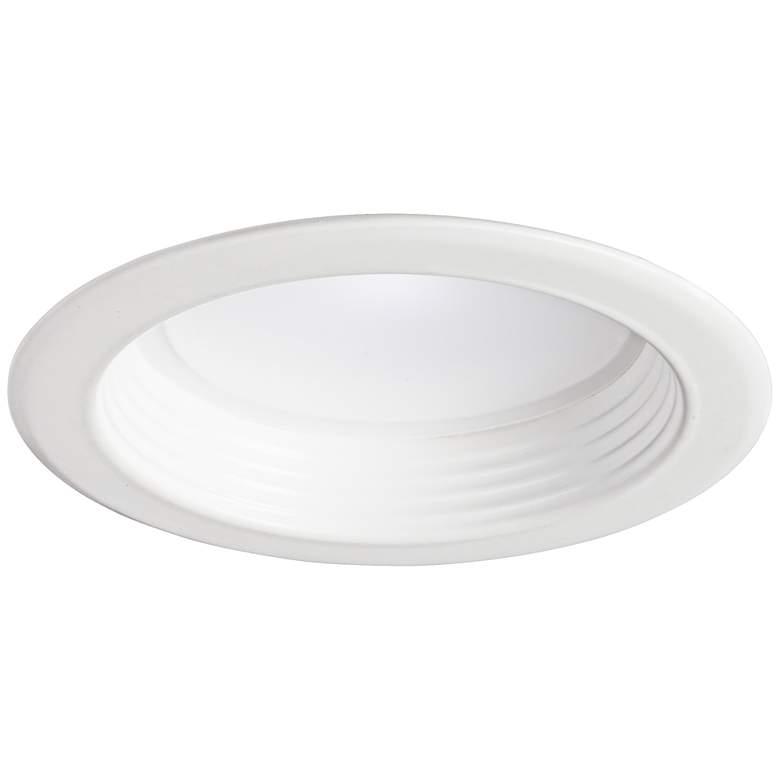 "4"" White Baffle 10 Watt 650 Lumen Dimmable LED Retrofit Trim"