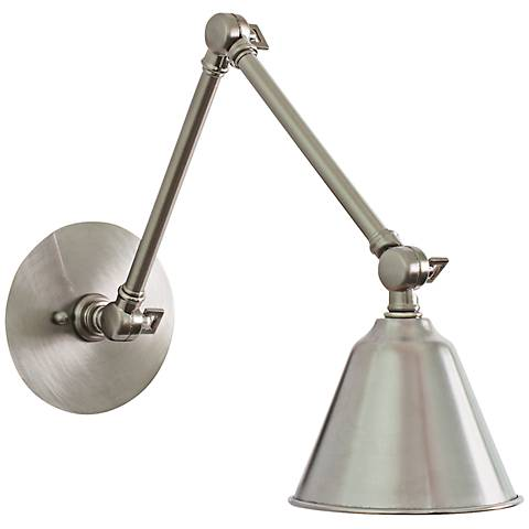 House of Troy Library Satin Nickel Swing Arm LED Wall Lamp