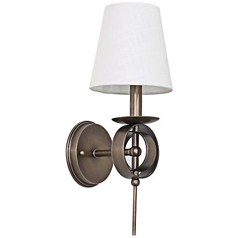 "Lake Shore Compass 17"" High Antique Brass Wall Sconce"