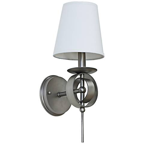 "Lake Shore Compass 17"" High Satin Pewter Wall Sconce"