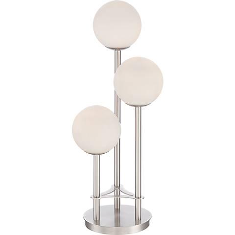Possini Euro Spacely 3-Light Globe Table Lamp