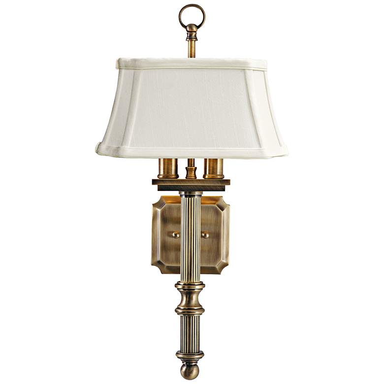 """House of Troy 19"""" High Antique Brass Wall Sconce"""