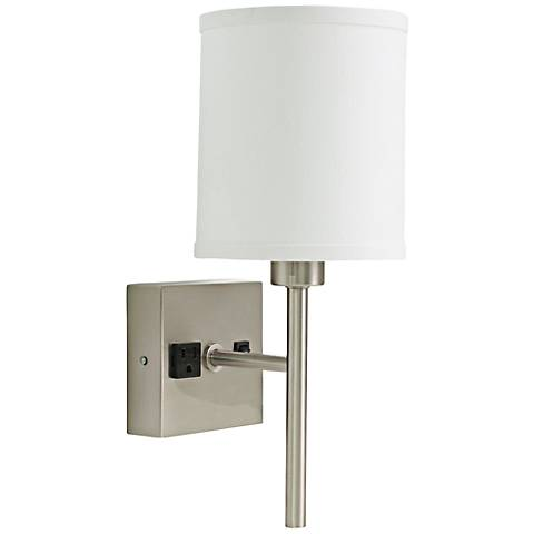 """House of Troy Linear 15"""" High Satin Nickel Wall Sconce"""