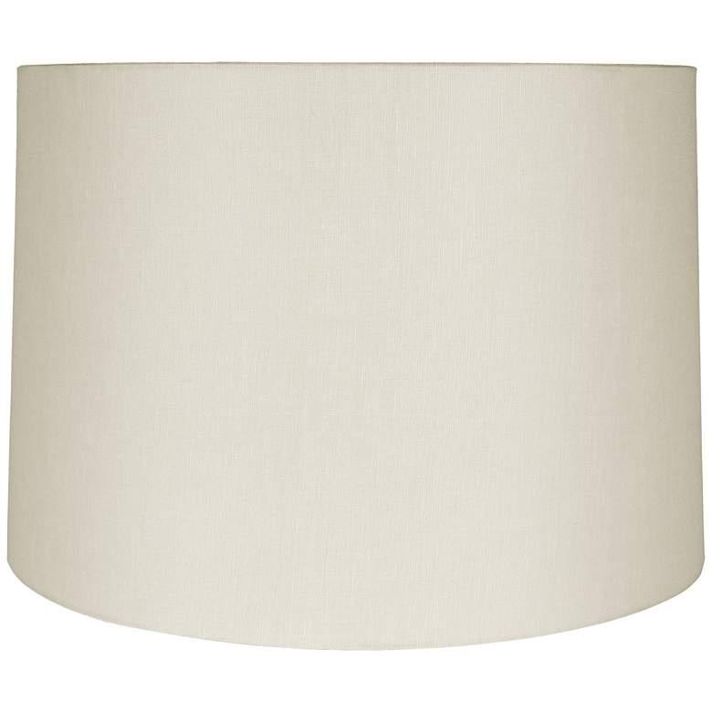Eggshell Linen Round Drum Shade 16x17x11.5 (Spider)