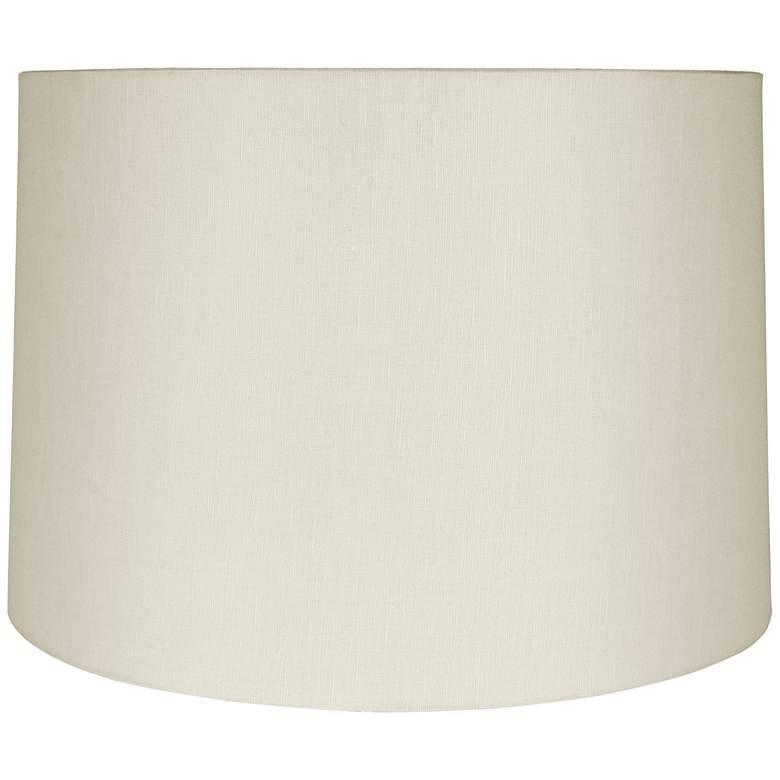 Eggshell Linen Round Drum Shade 17x18x12 (Spider)