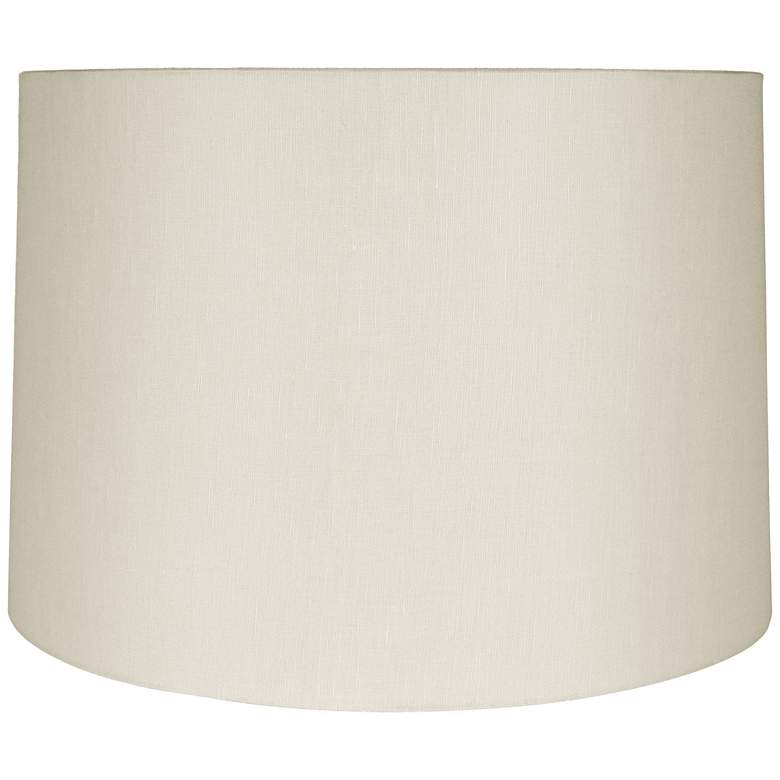 Eggshell Linen Round Drum Shade 18x19x12.5 (Spider)