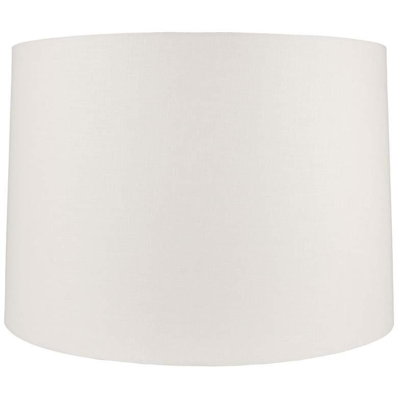Off-White Linen Round Drum Shade 17x18x12 (Spider)