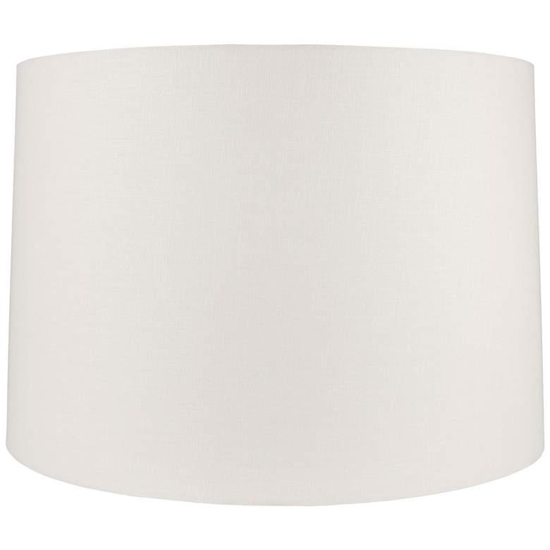 Off-White Linen Round Drum Shade 18x19x12.5 (Spider)