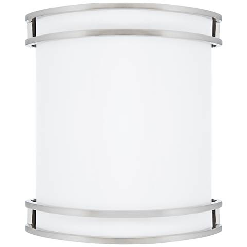 "Victore White 10 1/2"" High Brushed Nickel LED Wall Sconce"