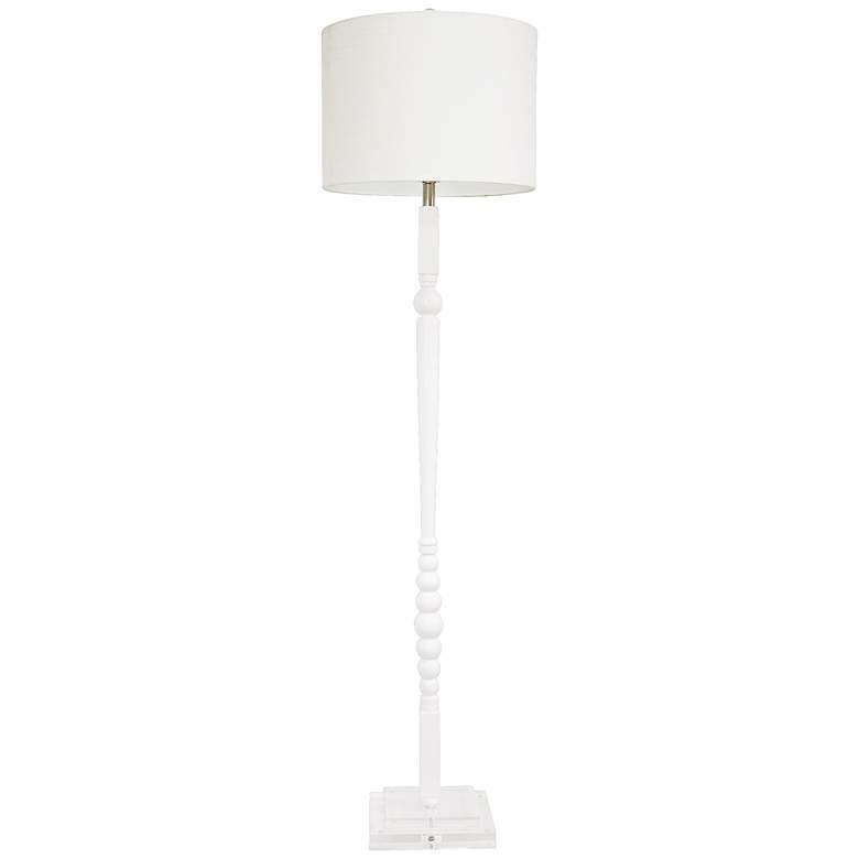 Couture Venice White Balustrade Floor Lamp