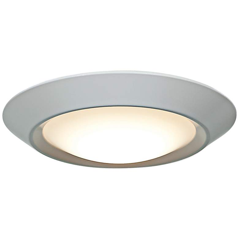 "Mini White 5 1/2"" Wide 7W Surface Mount or LED Retrofit"