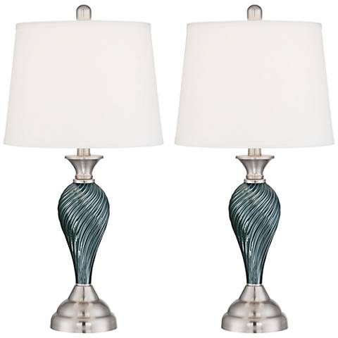 Arden Twist Column Non-Dimmable LED Table Lamp Set of 2