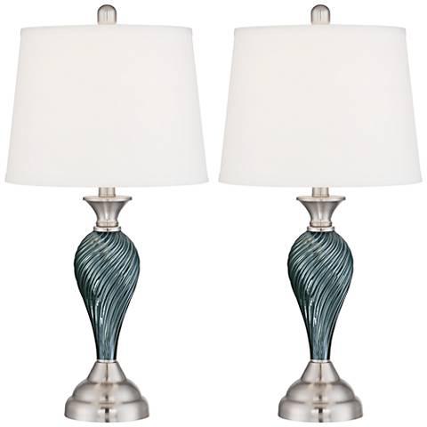 Arden Table Lamp Set with 9 Watt LED Bulbs