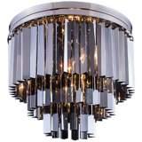 """Sydney 20""""W Polished Nickel Silver Crystal Ceiling Light"""
