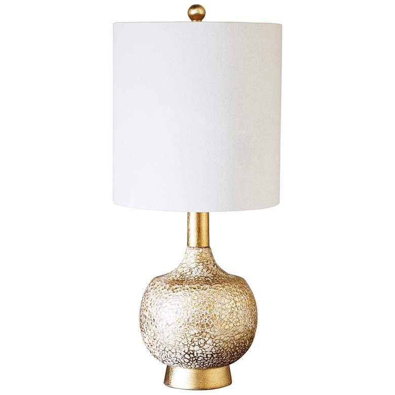 Couture Atwater Gold Leaf Gourd Table Lamp