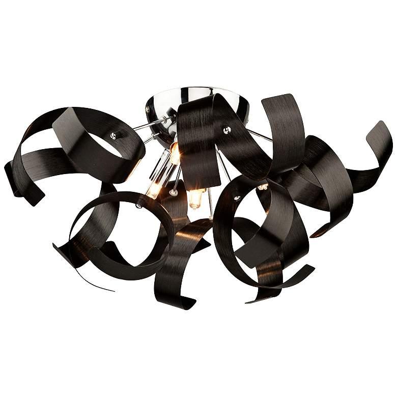 """Artcraft Bel Air Black 19"""" Wide Modern Ceiling Light"""