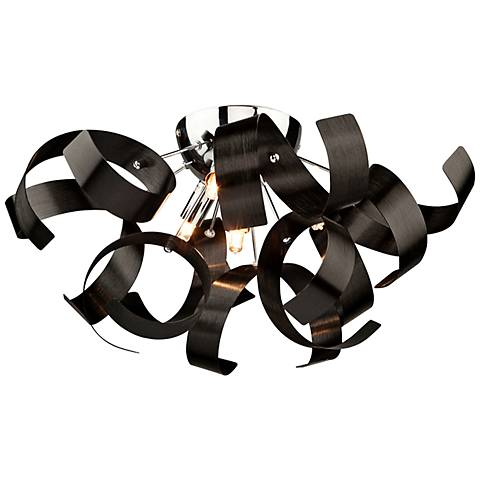 "Artcraft Bel Air 19"" Wide Black Ceiling Light"