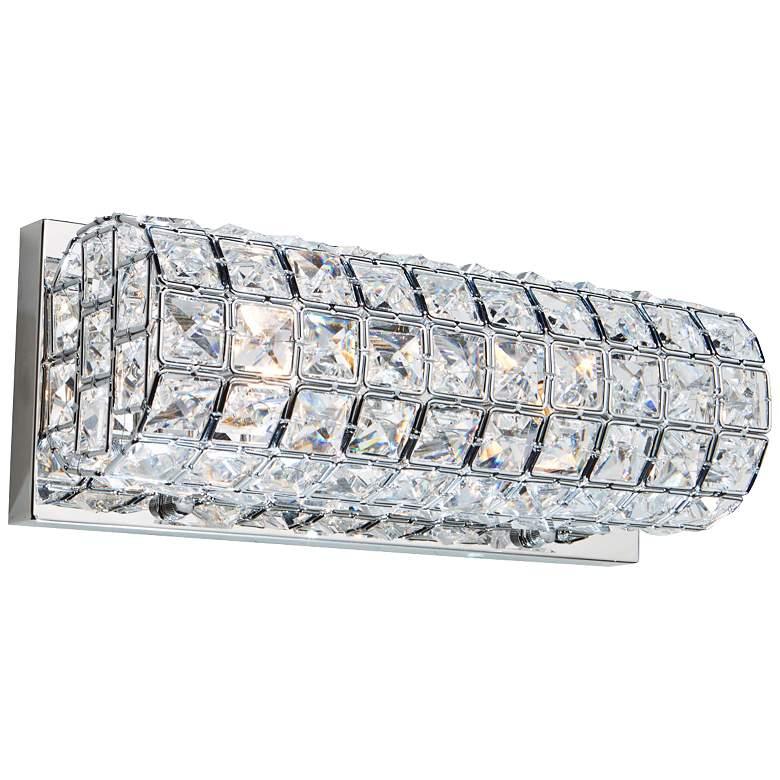 "Artcraft Sterling 12"" Wide Crystal Vanity Bath Light"