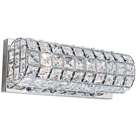 "Artcraft Sterling 12"" Wide Crystal Bath Light"