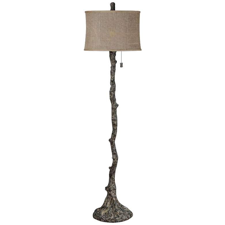 Wesley Rustic Bark Tree Branch Floor Lamp