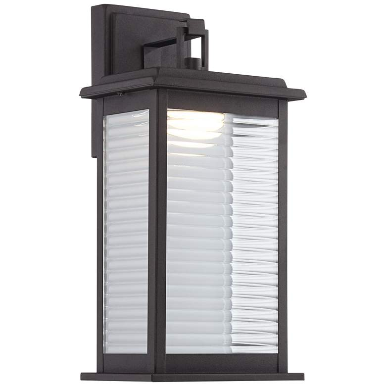 """Marguerite 14 3/4"""" High Black LED Outdoor Wall Light"""
