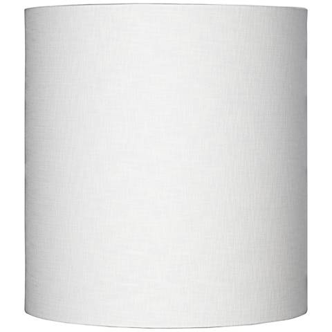 White Tall Linen Drum Shade 14x14x15 (Spider) by Lamps Plus