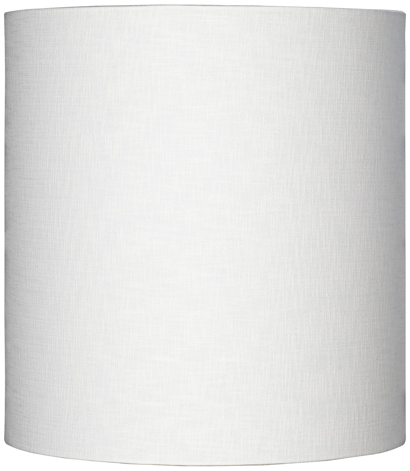 High Quality White Tall Linen Drum Shade 14x14x15 (Spider)