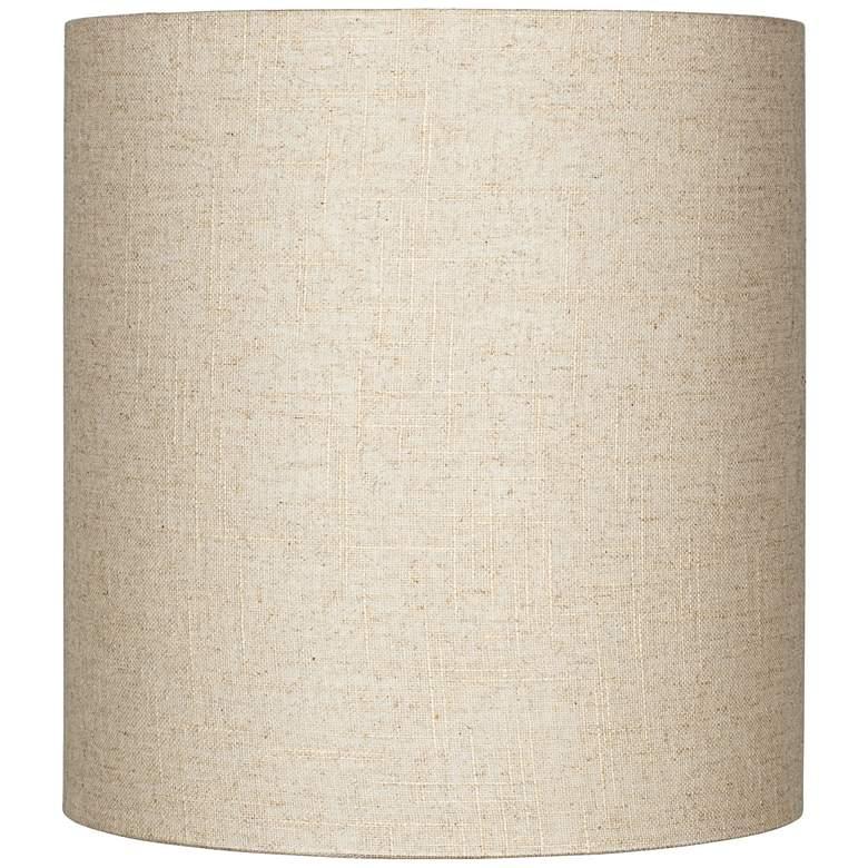 22e684a7fa Oatmeal Tall Linen Drum Shade 14x14x15 (Spider) - #8M867 | Lamps Plus