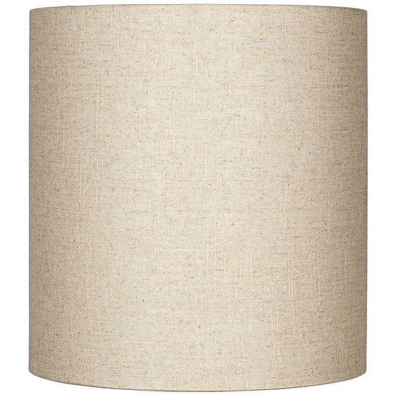 Oatmeal Tall Linen Drum Shade 14x14x15 Spider 8m867