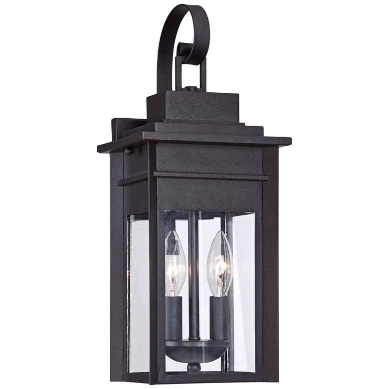 "Bransford 17"" High Black-Specked Gray Outdoor Wall Light"