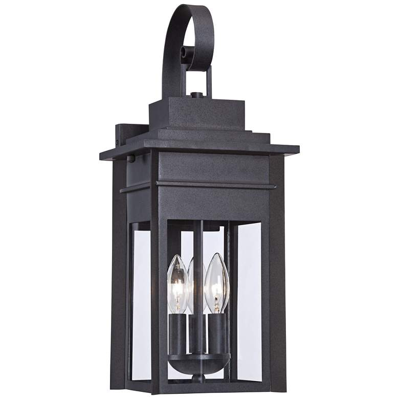 "Bransford 19"" High Black-Specked Gray Outdoor Wall Light"
