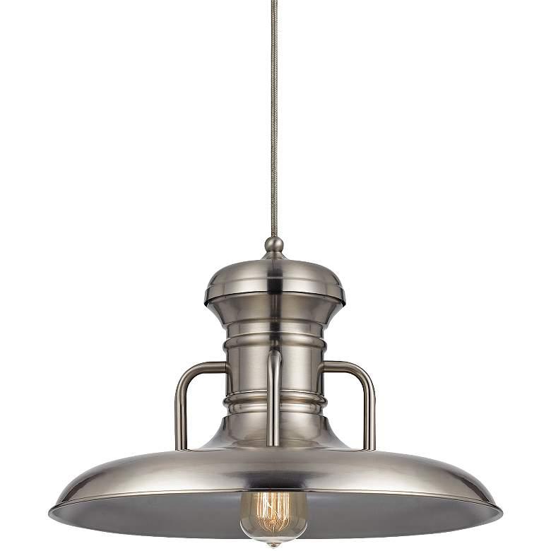 "Winterset 16"" Wide Brushed Steel Pendant Light"