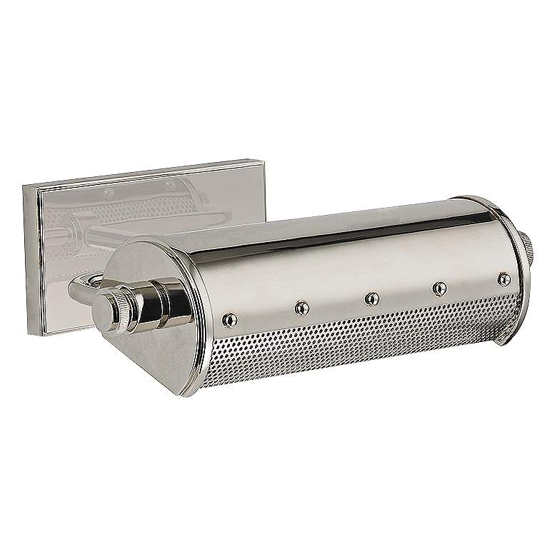 """Hudson Valley Gaines 11"""" Wide New Nickel Picture Light"""