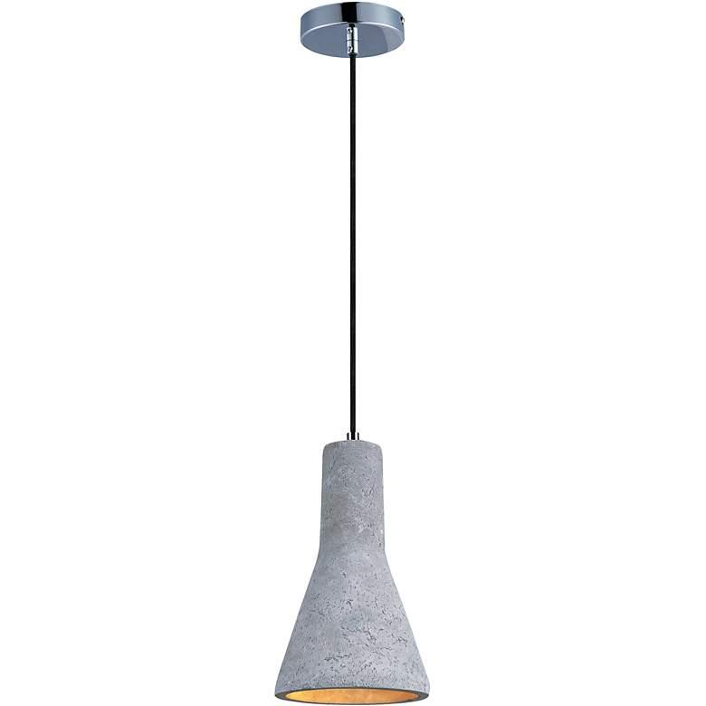 """Maxim Crete 7 1/4"""" Wide Concrete Bell LED Mini Pendant"""