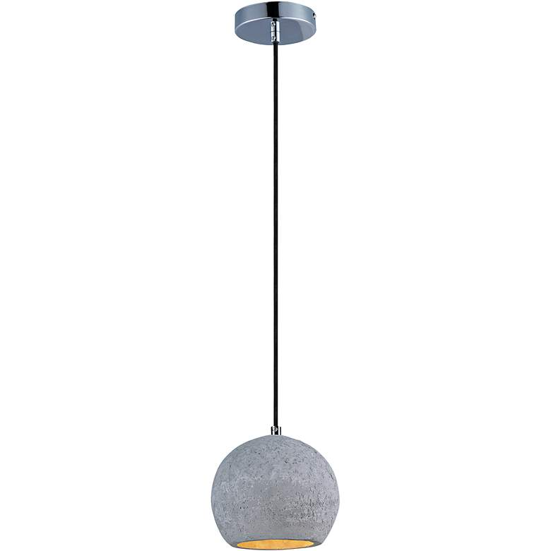 "Maxim Crete 7""W 1-Light LED Concrete Dome Mini Pendant"